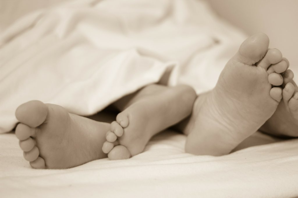 The arms and legs are tied -  sleep with your partner