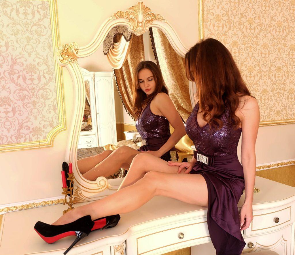 Adding some beautiful mirrors.
