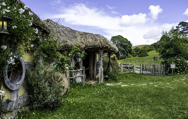Countries a girl can travel alone - Hobbit house in New Zealand