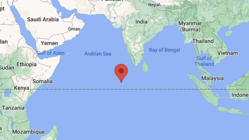 Chinese rocket crashes in Maldives (Image: Google Maps)