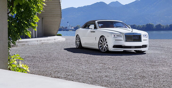 Rolls Royce White Luxury Car