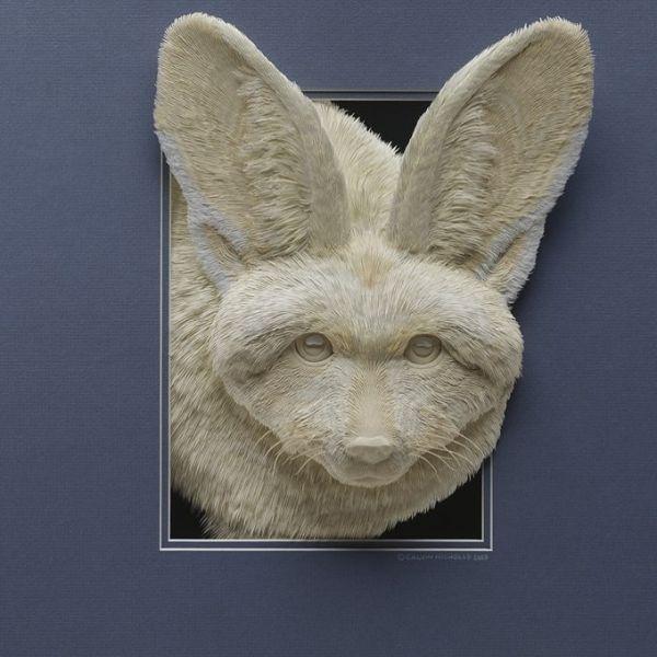 Calvin Nicholls paper sculptures