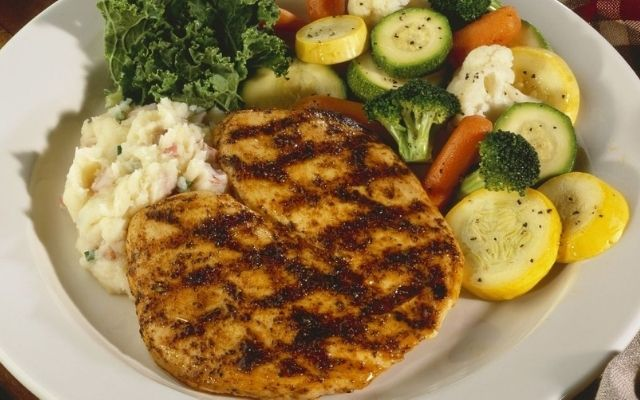 Pan Fried Chicken with Vegetables
